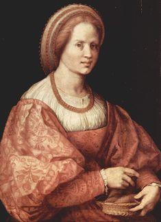 Якопо Понтормо. Портрет дамы с корзиночкой для пряжи (1516)