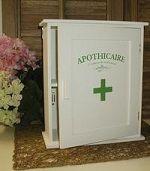 Lääkekaappi (apteekkarin vihreä/puu)