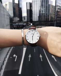 "In the city. (Photo via IG: emilieandcoffee)  Use code ""MYAN15"" to get 15% off and treat yo'self when you order on www.danielwellington.com."
