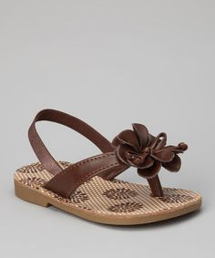 Take a look at this Brown Flower Primrose Sandal - Infant, Toddler & Girls by Natural Steps on #zulily today!