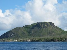 A view of Brimstone Hill from the sea, island of St. Kitts, 2010