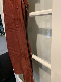 Sarah Pacini Size Small Dress Brick Linen V Exposed Zipper Neck Sleeveless Midi Belted Dress, Gray Dress, Bodycon Dress, Comfy Usa, Sarah Pacini, Brick, Zipper, Ebay, Dresses