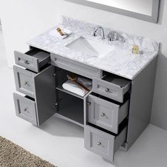 Picture Gallery For Website Virtu USA Elise inch Grey Single Bathroom Vanity Cabinet Set Free Shipping Today