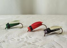 Vintage Bass Bugs Fishing Lures Hand Tied Lure by CynthiasAttic
