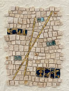 Jacqueline Iskander: Study in Moderation № 8, (2020), marble, mosaic gold, decorative ceramic, shell Create Image, Ceramic Decor, Exterior Lighting, Colored Glass, Shells, Sculptures, Study, Marble Mosaic, Ceramics