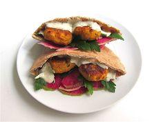 Sweet Potato Falafel With Za'atar Zested Yogurt Sauce