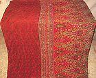 Red Henna Pure Silk Vintage Sari Saree Fabric India Gift Unique Bonus #0DS9M - #0DS9M, BONUS, fabric, Gift, Henna, India, Pure, Saree, Sari, Silk, Unique, vintage