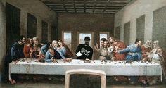 ...eu sou o único bebendo álcool em um jantar. #snoopdog #santaceia #jesus