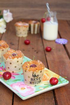 Muffin ciliegie e cioccolato bianco