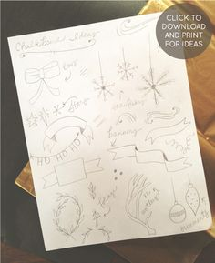 Inspiration for drawing on christmas cards (She drew these on wrapped christmas gifts)