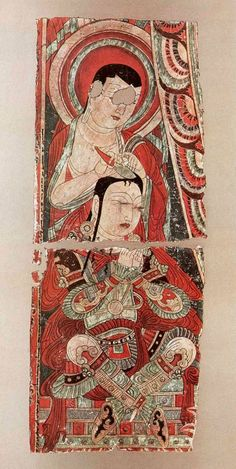 TARİH VE ARKEOLOJİ: BEZEKLİK MAĞARASI - UYGUR TÜRK RESİMLERİ Historical Art, Traditional Paintings, Ancient Art, Islamic Art, Chinese Art, Indian Art, Artist Art, Archaeology, Rugs On Carpet