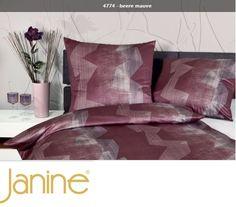 Janine Monaco 4774/05,beere,overtrek,satijn. Kleur: rood,grijs,bordeaux  Slaapkamers, bedtextiel, sierkussens en accessoires  www.theobot.nl