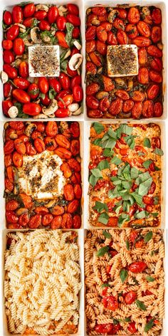 """This baked goat cheese pasta is our spin on the viral """"baked feta pasta"""" that went viral in Finland, and made the grocery stores in Finland ran out of feta cheese. Pasta Salad With Spinach, Quinoa Pasta, Greek Salad Pasta, Feta Pasta, Baked Goat Cheese, Goat Cheese Pasta, Goat Cheese Recipes, Pasta Dinner Recipes, Appetizer Recipes"""