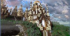Tropical Sandstone Castle | Minecraft Building Inc
