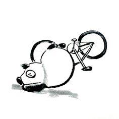 【一日一大熊猫】2015.12.3 昨夜の大雨の中、自転車で帰宅中 滑って派手に転んでしまったよ。 あんなに派手に転んでも怪我がなかったよ。 みんなも気をつけてね。 #pandaJP