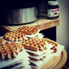 #nutella #waffels