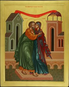 On the Chaste Couple Joachim and Anna (St. John of Damascus) Religious Icons, Religious Art, Orthodox Catholic, Roman Church, Immaculate Conception, Day Book, Holy Ghost, Orthodox Icons, Christian Art