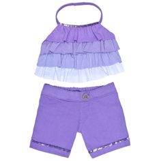 Lavender Ruffle Pants Outfit 2 pc. - Build-A-Bear Workshop US