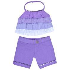 Lavender Ruffle Pants Outfit 2 pc. - Build-A-Bear Workshop US