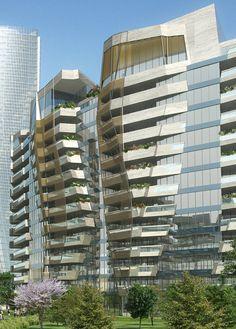CityLife Residences, Fiera Milano, Milan, Italy designed by Daniel Libeskind