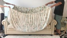 up to 50 Off Diy Sofa Cover, Chair Covers, Diy Home Crafts, Diy Crafts To Sell, Sofa Makeover, Floral Sofa, Cushion Cover Pattern, Hand Embroidery Videos, Decoration Plante