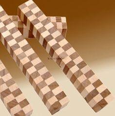 "Laminated Maple and Walnut Checkerbaord Pen Blank 3/4"" x 5"" LAM5"
