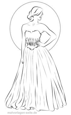 model ausmalen topmodel malvorlage kleid | malvorlagen
