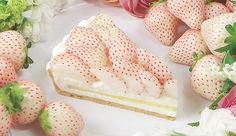 A Rare Japanese White Strawberry Tart That Captures The 'Scent Of First Love'