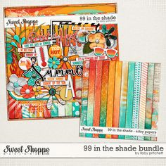 Digital Scrapbook - 99 In The Shade Bundle by Libby Pritchett