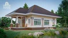 10 Contemporary House Designs With Floor Plan Perfect for Modern Family Modern Bungalow House, Bungalow House Plans, Small House Plans, Single Floor House Design, Small House Design, House Floor, Contemporary House Plans, Contemporary Style Homes, Beautiful Small Homes