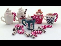 ▶ ❄ Mugs Of Hot Chocolate - Polymer Clay Tutorial ❄ - YouTube