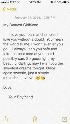 Long sweet goodnight message