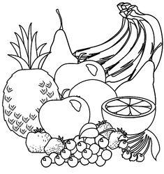 Kleurplaat fruit #kleurplaat #fruit