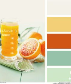 Color Palettes for kitchen, dining room, laundry room, and half bath