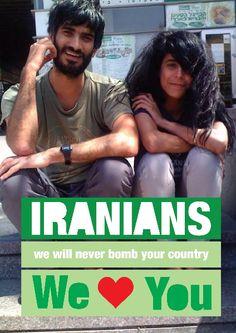 Jerusalem - Das israelische Online-Magazin Haaretz berichtete gesternvon einer Initiative mit Online Plakaten, die von #Liebe und #Frieden erzählen und große Aufmerksamkeit in Israel aber auch in Iran erregt hatten; iranische und israelische Bürger sendeten zu tausenden Nachrichten des Lobes und des Dankes.