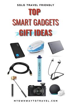 Top smart travel gadgets gift ideas | must-have smart gadgets to travel | solo travel friendly smart gadgets | useful travel gifts | smart travel gift ideas | gifts for travel lovers | unique travel gifts | travel gadgets amazon | travel gadgets and accessories | travel blogger gadgets #travel #smartgadgets #travelgadgets #giftideas #travelgear #travelaccessories #myownwaytotravel Solo Travel Tips, Ways To Travel, Travel Packing, Travel Advice, Packing Lists, Travel Abroad, Travel Guide, Travel Items, Travel Gadgets
