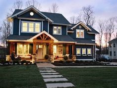 Beautiful house. Just needs an attached garage and a wrap around porch.
