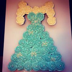 ❄FROZEN ⛄ Cupcake Cake!!