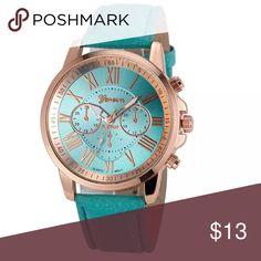 💚‼️SALE‼️Turquoise Roman Numerals Watch Turquoise Roman Numerals Watch                                       🔹New, in package Accessories Watches