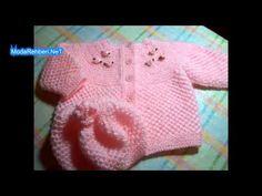 Yalancı Pirinç Kız Bebek Hırkası Detaylı Anlatımı - YouTube