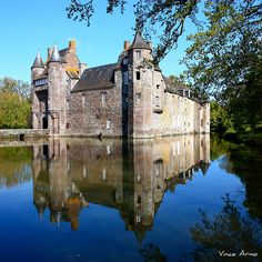 Château de Trécesson - Bretagne , a 14th-century manor-house in Morbihan, Brittany