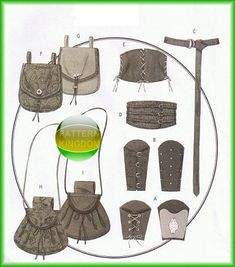 Butterick 5371 Victorian Corset Wrist Bracer & Belt Patterns