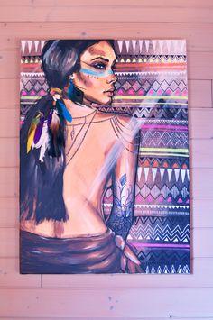 http://www.alittlemarket.com/peintures/fr_eva_lubart_peinture_acrylique_sur_toile_portrait_indienne_plumes_paon_-16846817.html