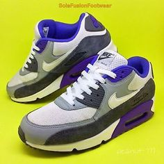 Nike Air Max 90 Purple Pink White Mens Running Trainers Shoes