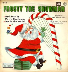 Peter Pan 45 Christmas Record, Frosty the Snowman