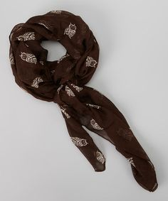 Loving this Chocolate Brown Owl Scarf on #zulily! #zulilyfinds