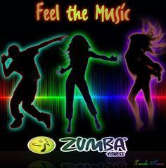 Feel the music redwards.zumba.com & fb.com/ZumbaFitnessWithBecky