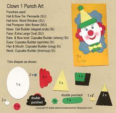 Alex's Creative Corner: Clown punch art instructions