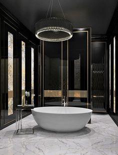 Marchenko&Pazyuk Design Luxury interior design. Bathroom in apartments. Moscow, Russia - Interior Style