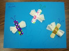 Sick Get Well Soon storytime; Band-aids and I think kleenex were used for this fun looking craft! Projects For Kids, Crafts For Kids, Craft Projects, Craft Ideas, Project Ideas, Get Well Gifts, Get Well Cards, Craft Activities, Preschool Crafts